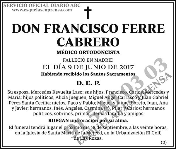 Francisco Ferre Cabrero